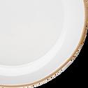 Assiette à dessert en faïence blanc ventoux D22cm-LUBERON