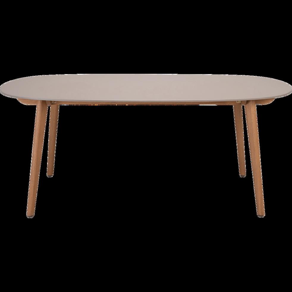 montreux - Table de jardin taupe (6 à 8 places)