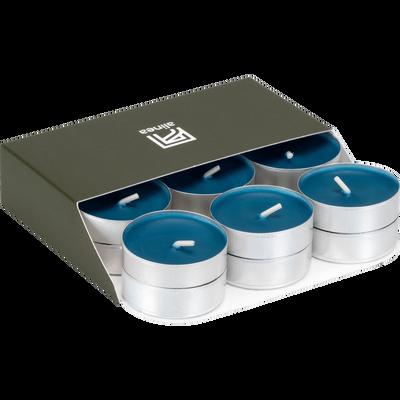 18 bougies chauffe-plats gris bleu figuerolles-HALBA