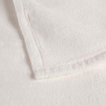 Couvre lit effet polaire- blanc ventoux 230x250cm-ROBIN