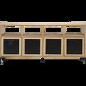 Étagère 8 cases en chêne-Tassia