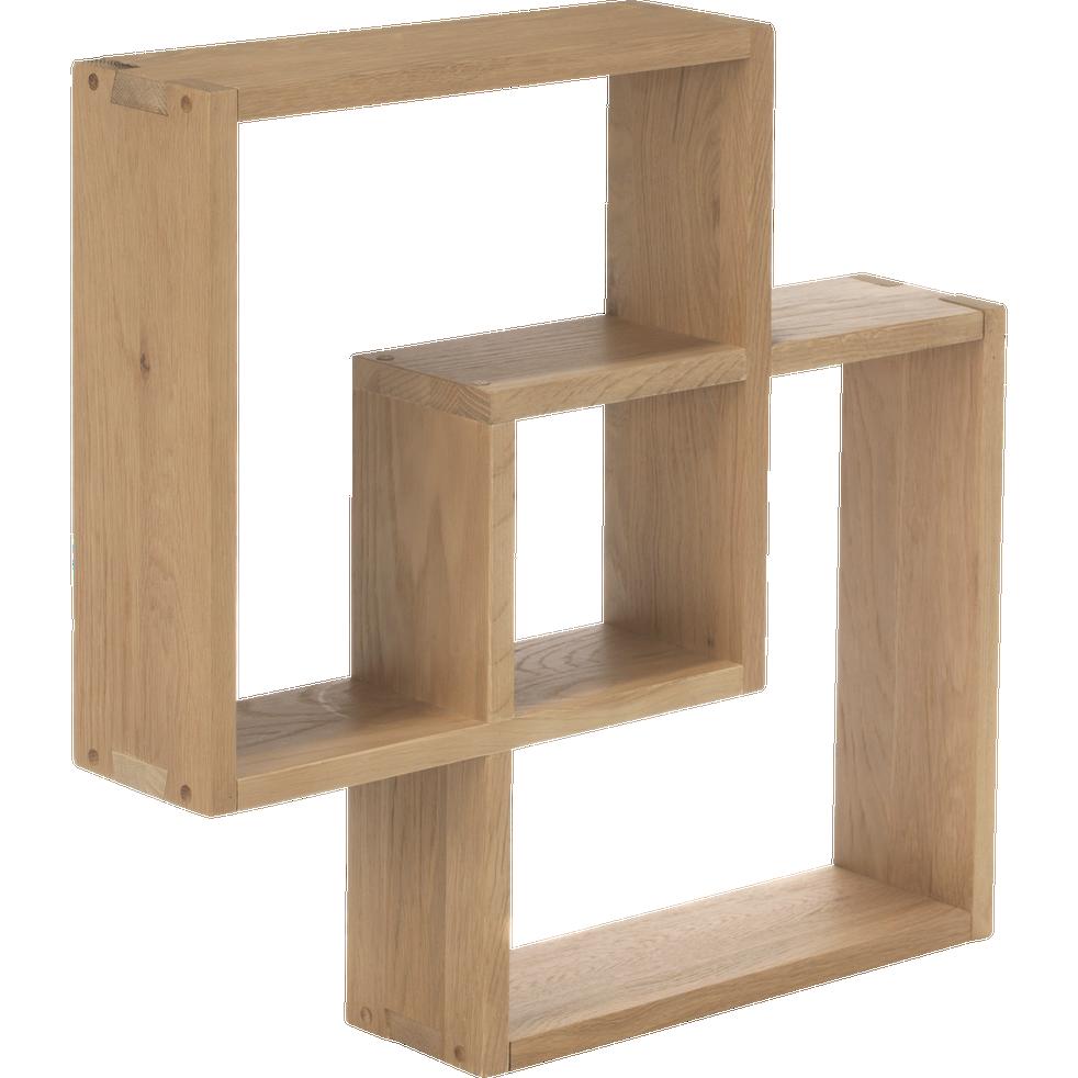 Étagère cube murale en chêne-TASSIA