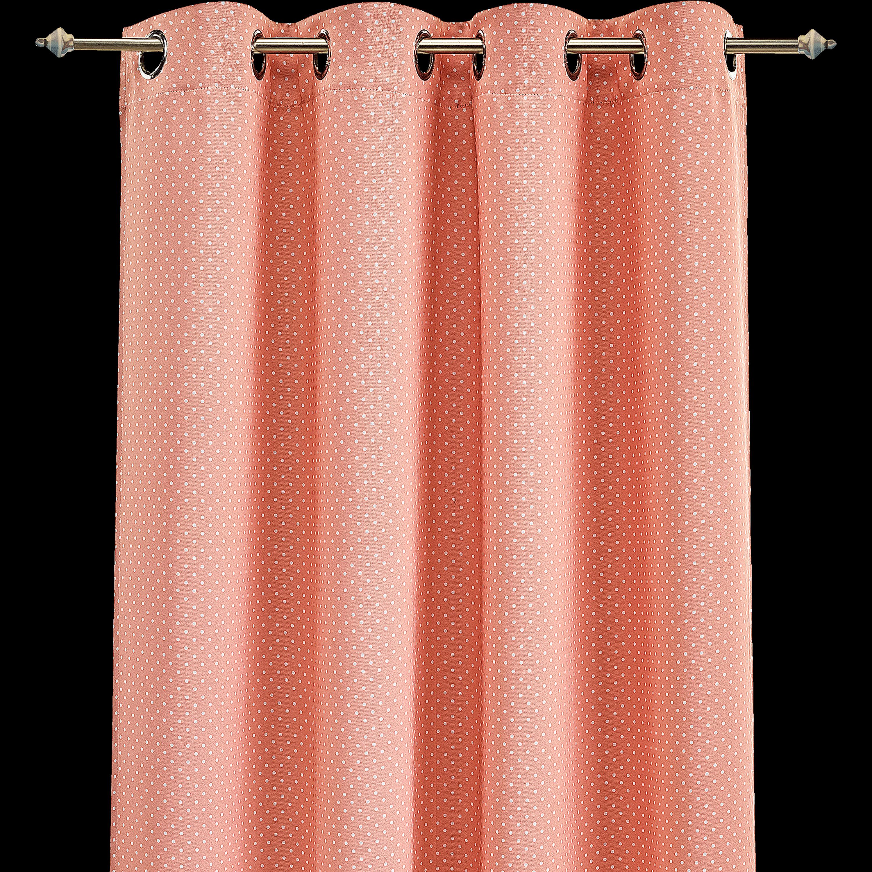 Charmant Rideau Occultant Rose Motifs Pois 140x240cm Pour Enfant POIS