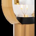 Lampe en métal doré H26,5cm-ARA