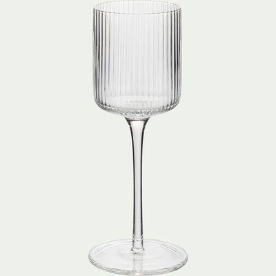 Verre à vin en verre strié 28cl-VAVIN