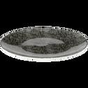 Assiette à dessert en faïence noire D22cm-SAFIA