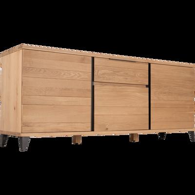 Buffet bas en chêne 3 portes et 1 tiroir-MAUGUIO
