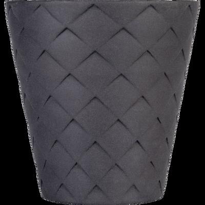 Tasse en porcelaine gris anthracite 8cl-NATTE