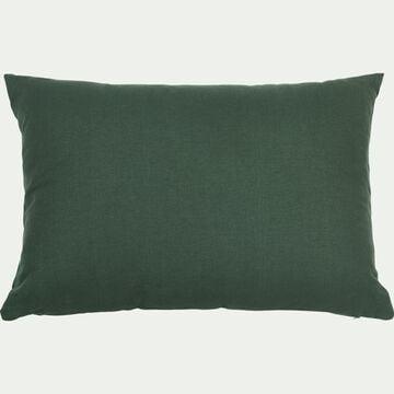 Coussin en coton - vert cèdre 40x60cm-CALANQUES