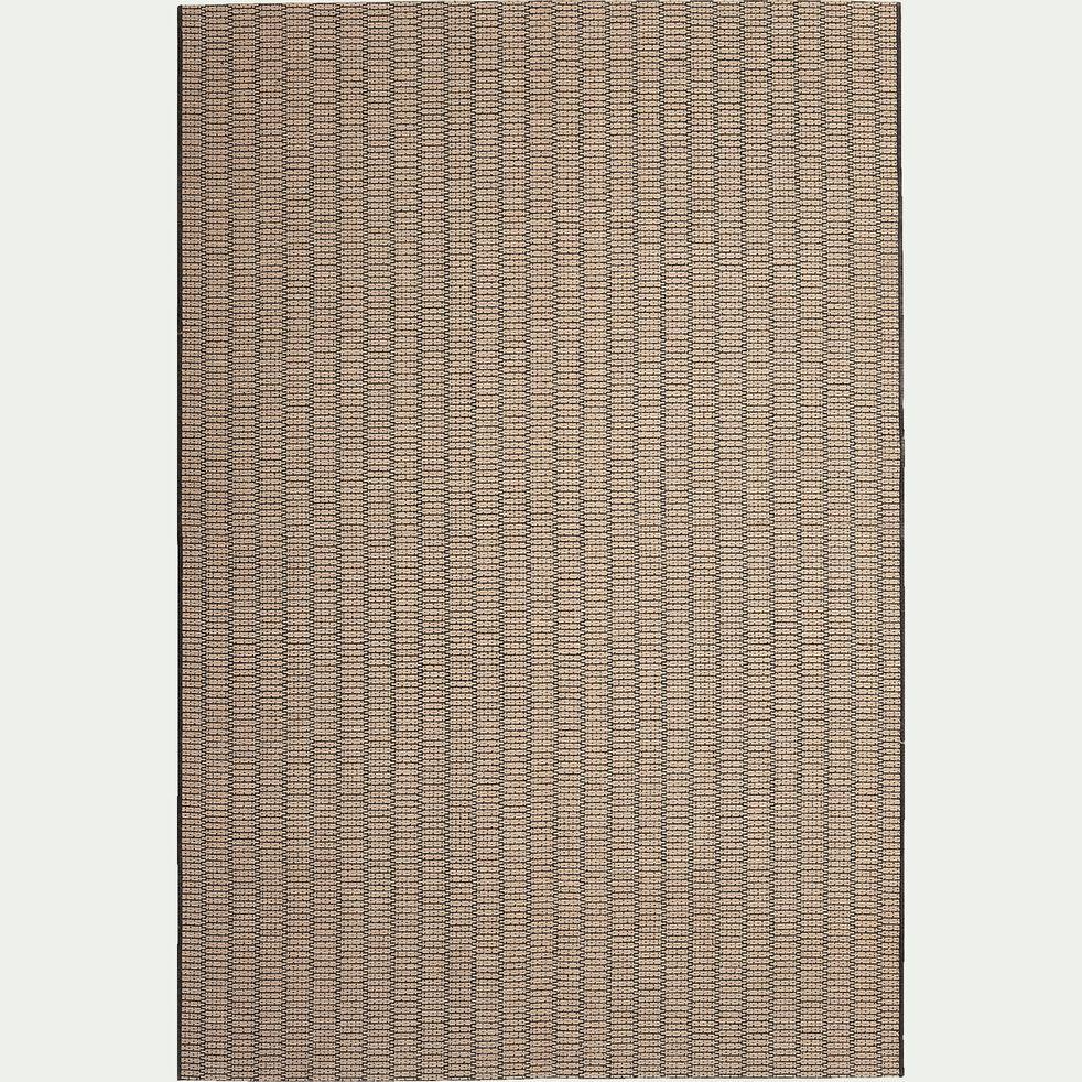Tapis rectangulaire en jute - noir et naturel 160x230cm-MEJAN
