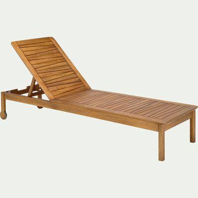 Bain de soleil en acacia - naturel-CARLO