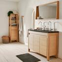 Miroir rectangulaire de salle de bain L120cm en chêne-NATIVE
