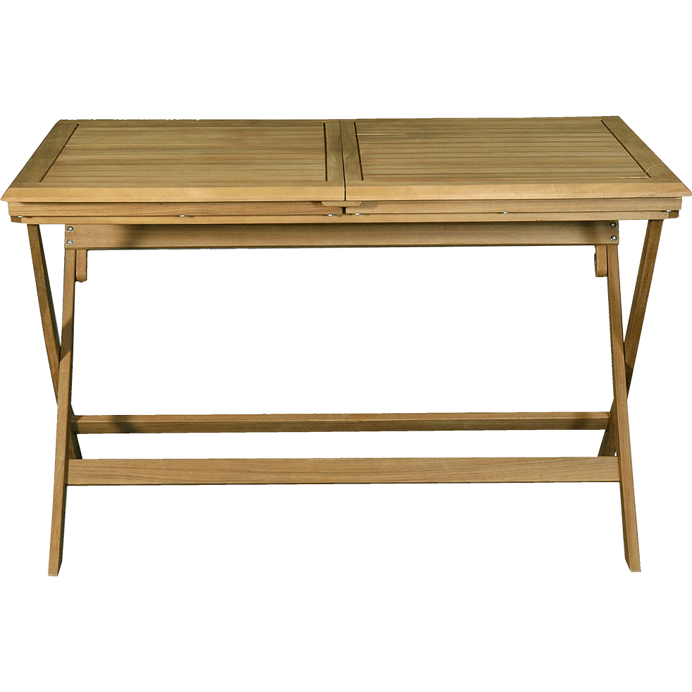 Table de jardin extensible pliante en acacia (6 à 8 places)-MILANA
