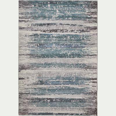 Tapis effet usé vintage - vert et blanc 160x230cm-moni