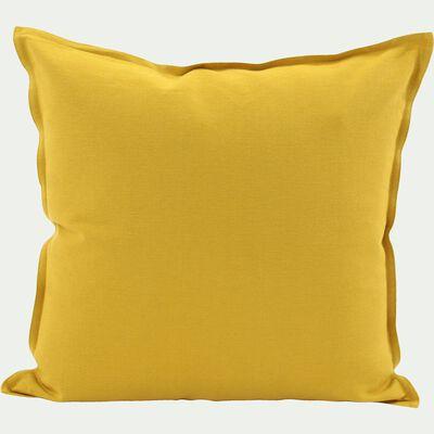 Coussin en coton jaune 40x40xm-ALMERA