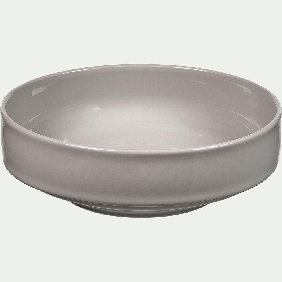 Saladier en faïence gris borie D23cm-VADIM