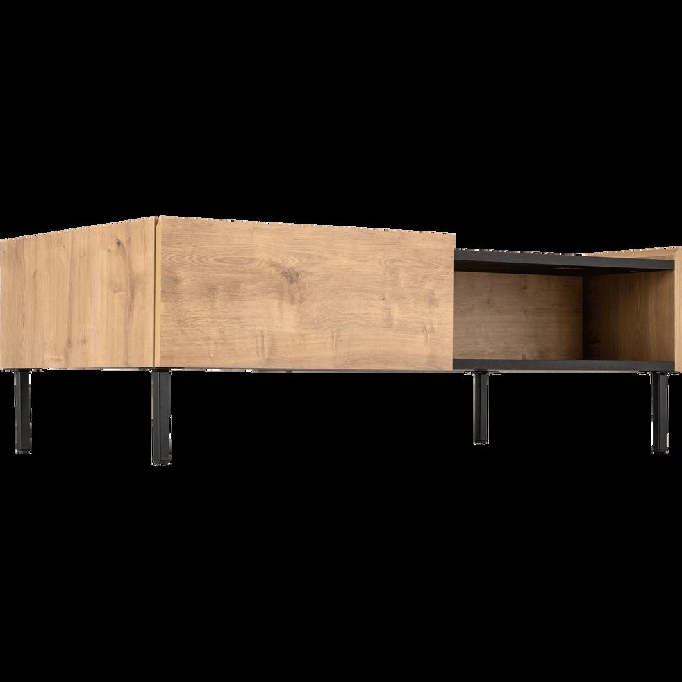 Table basse 2 tiroirs coloris chêne et ardoise - MADON - tables ...