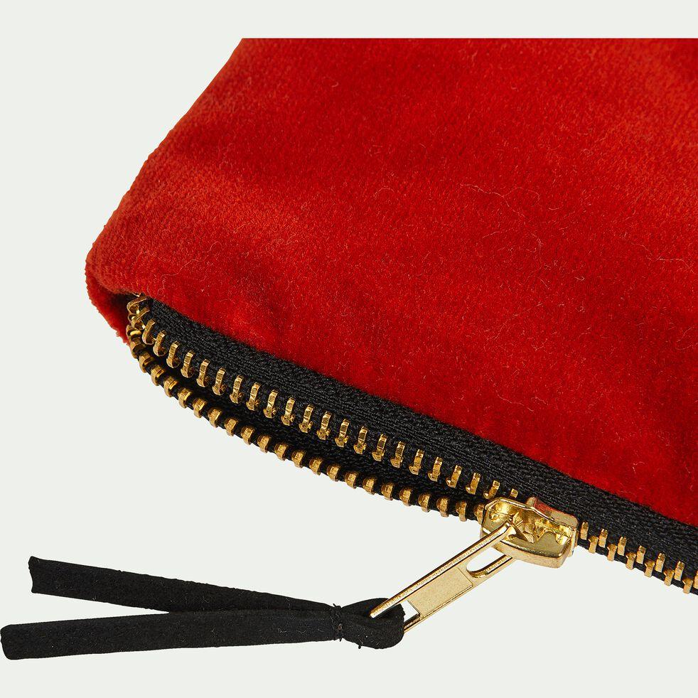 Pochette en coton - rouge 10,5x16,5cm-ELOI