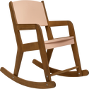 Rocking-chair en acacia pour enfant rose sable-RAPHAEL