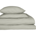 Lot de 2 taies d'oreiller en percale de coton Vert olivier 50x70cm-FLORE