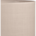 Suspension cylindrique en tissu beige roucas D40cm-MISTRAL