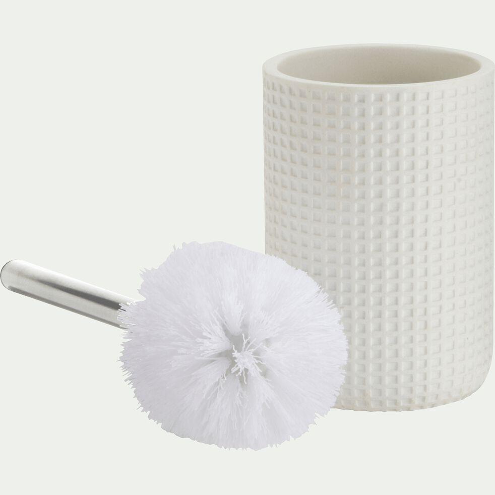 Balai et porte-balai WC en polyrésine - blanc ventoux-LOUBET