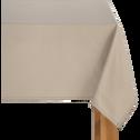 Nappe en coton beige alpilles 145x145cm-VENASQUE
