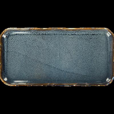 Plateau en céramique bleu L31cm-ARAL