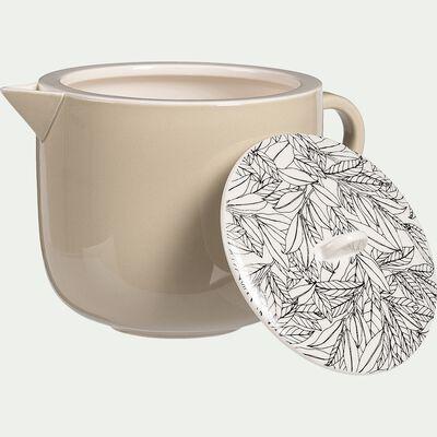 Théière en porcelaine - beige roucas motif laurier 55cl-AIX