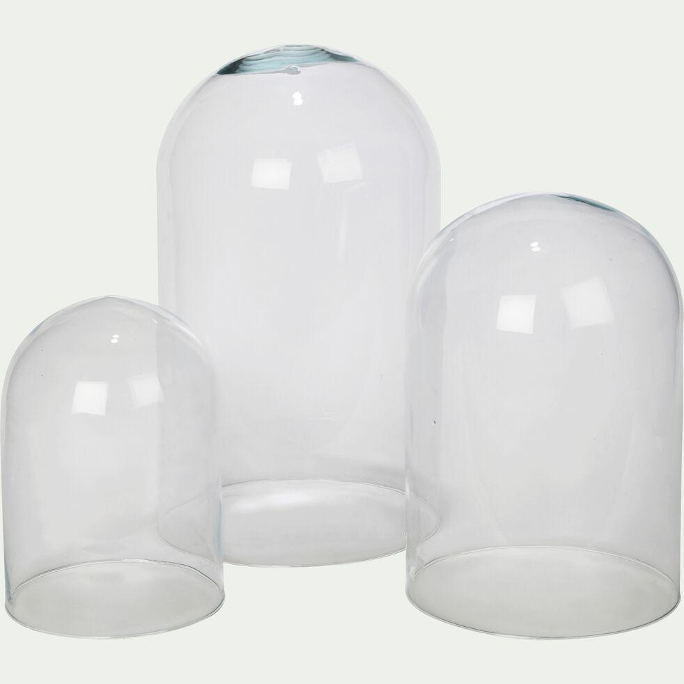 Que Mettre Sous Une Cloche En Verre lagoa - cloche en verre transparent h21cm