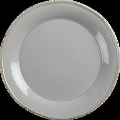 Assiette plate en faïence grise D27cm-LUBERON