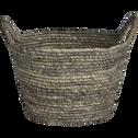 Panier déco en feuilles de maïs D25xH16cm-Milla