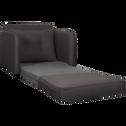 Fauteuil convertible déplimousse en tissu gris borie-VINYL