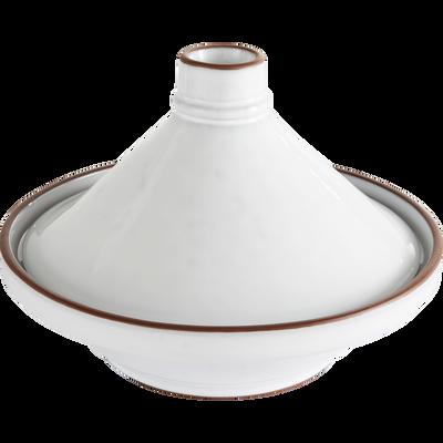 Tajine blanc en grès - D28cm-DARKSTONE