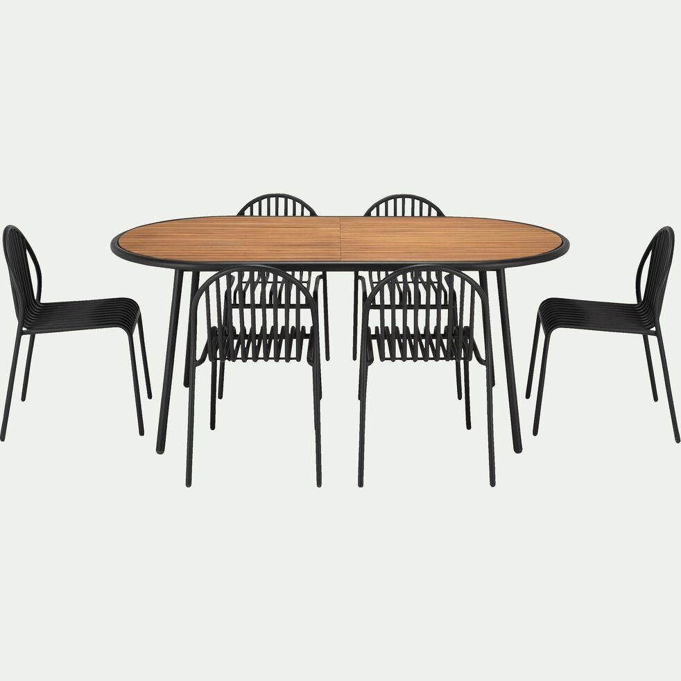 Chaise de jardin empilable en métal-ALDO