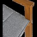 Chaise de jardin avec accoudoirs régisseur en acacia gris-ALASSIO