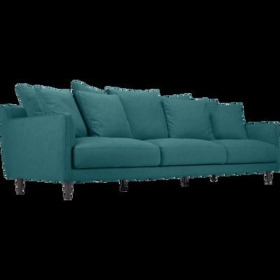 Canapé 5 places fixe en tissu niolon-LENITA