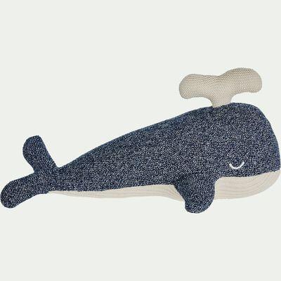 Peluche baleine en coton bio - bleu-Doli