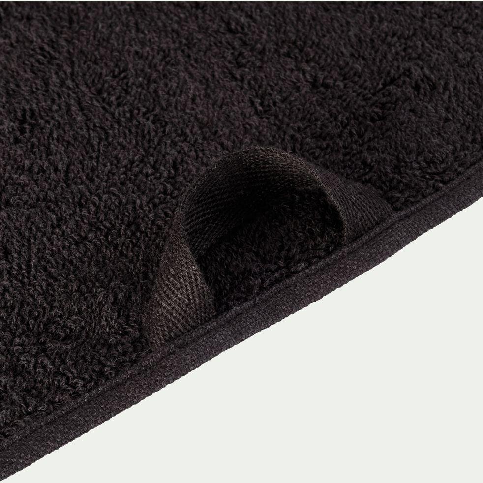 Serviette de toilette en coton - noir 50x100cm-Rhodes