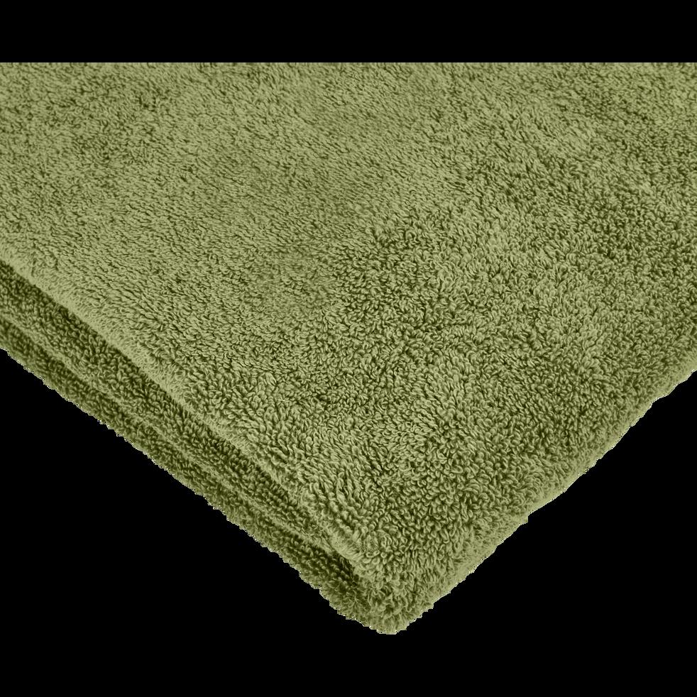 Linge de toilette vert olivier-AMBIN