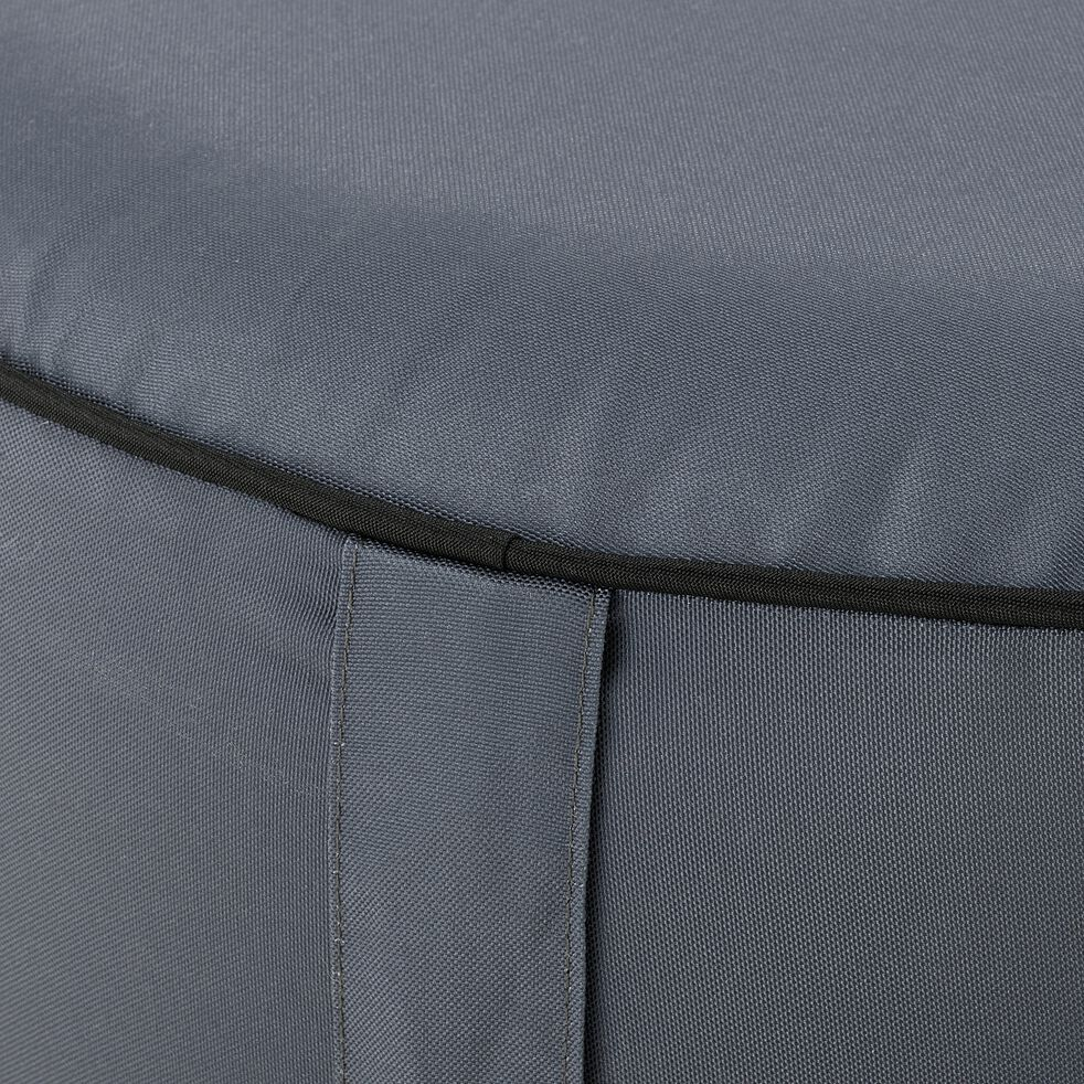 Pouf de jardin en tissu - gris ardoise D53cm-Caprice