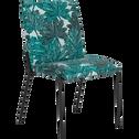 Chaise en tissu à motifs corfou.30-JASPE