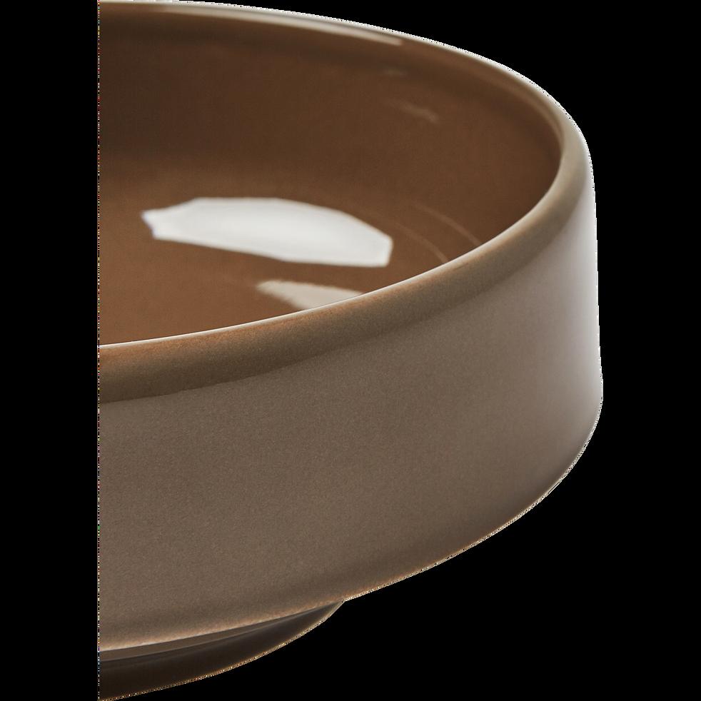 Coupelle en faïence brun châtaignier D15,5cm-VADIM