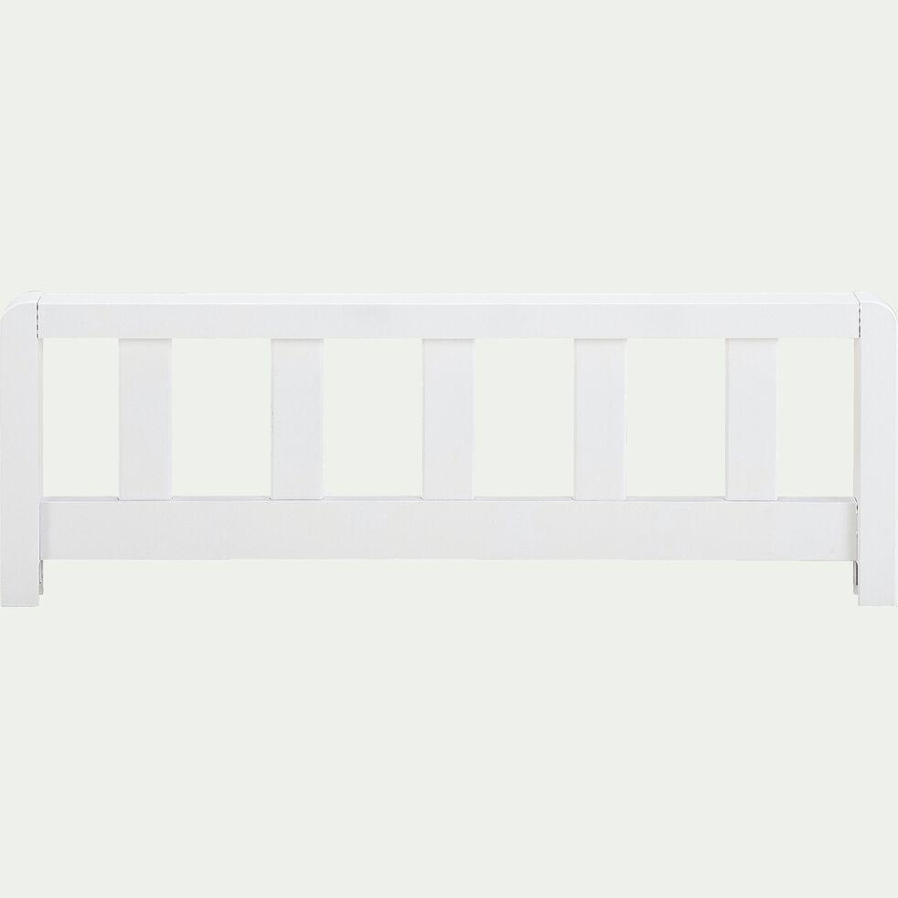 Barrière de sécurité en bois pour lit enfant - blanc-JAUME