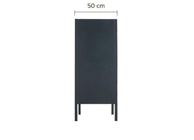 Commode 2 portes en acier Noir-SERRA