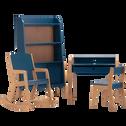 Bureau en acacia pour enfant bleu figuerolles-RAPHAEL