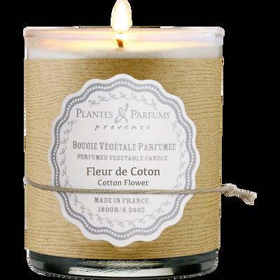 Bougie parfumée senteur fleur de coton H9cm-MANON