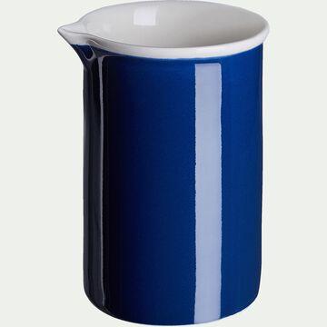 Crémier en porcelaine - bleu figuerolles D7xH10cm-CAFI