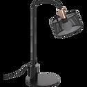 Lampe de bureau en métal noir ajouré H42cm-COSTA