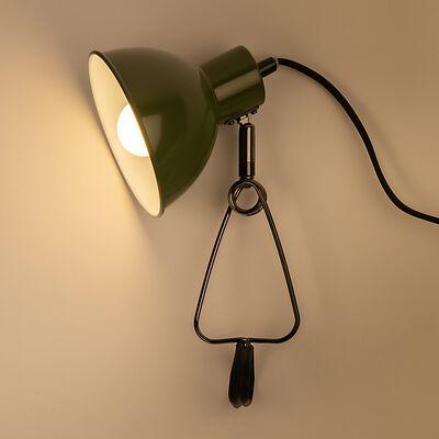 Lampe à pince - vert H32,5cm-MOYS
